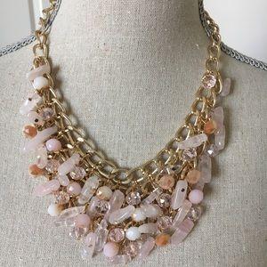 Jewelry - New Beautiful pink statement necklace set